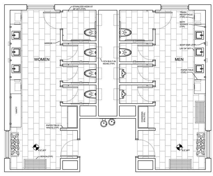restaurant-restrooms-floor-plan